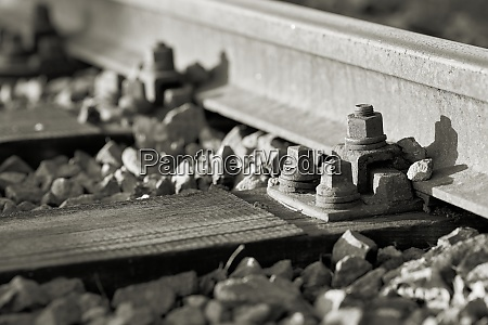 railway tracks in an industrial area