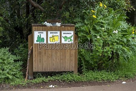 waste separation at natural preserve la