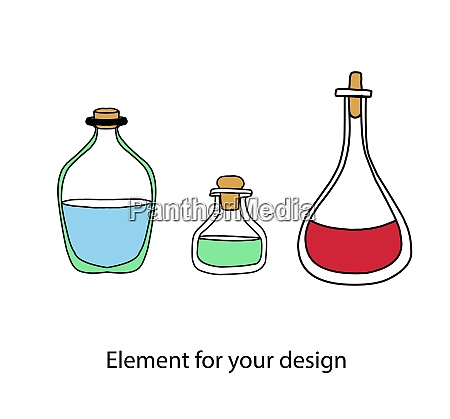 magic items magic potions bottles with