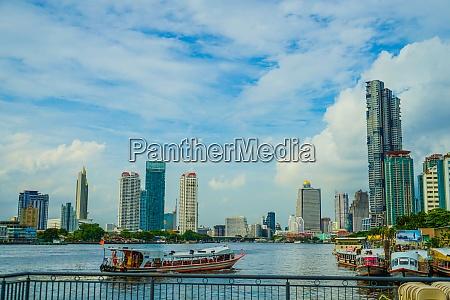 thailand bangkok skyline and the chao
