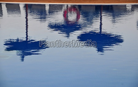 water refelction in a pool on