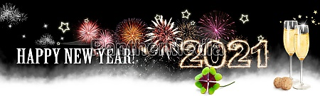 happy new year background start in