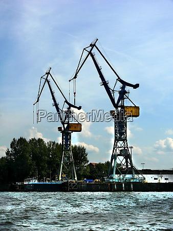 port crane in hamburg