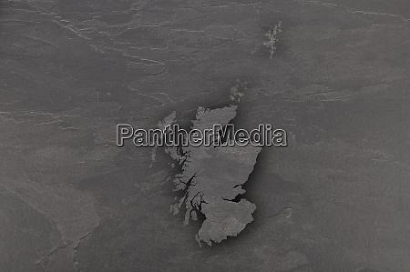 map of scotland on dark slate