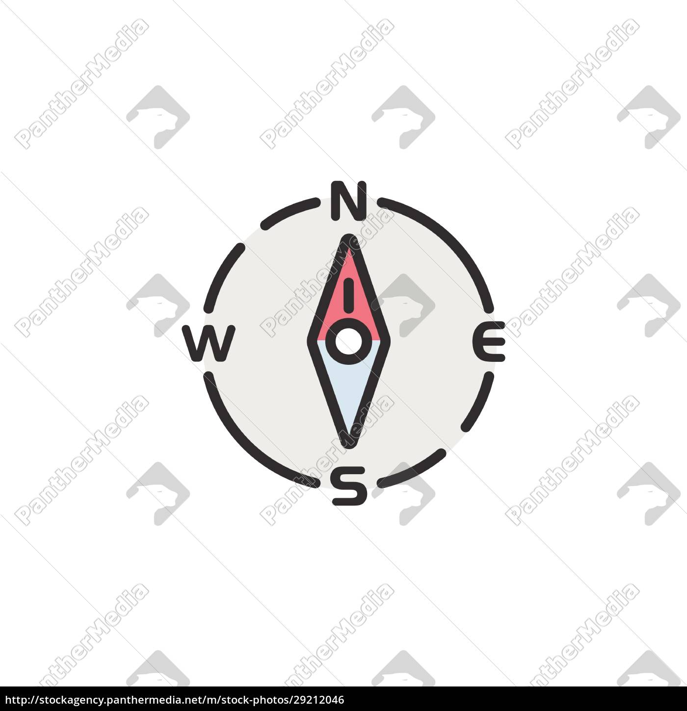 compass, north, direction., filled, color, icon. - 29212046