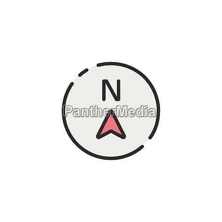 north, direction., filled, color, icon., weather - 29212057