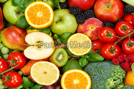 food background fruits and vegetables collection