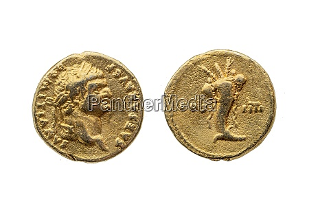 roman gold aureus coin reverse of