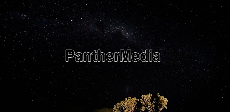 night sky with milkyway galaxy over