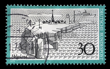 stamp printed in germany shows helgoland