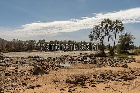 landscape view of the kunene river
