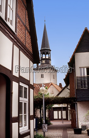 steeple of st pankratius in burgdorf