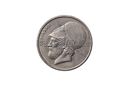 greek 20 drachma coin