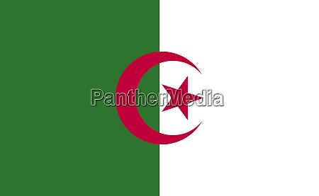 algeria national flag in exact proportions