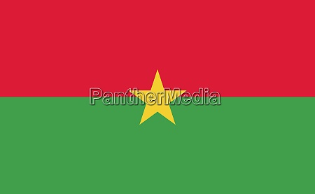 burkina faso national flag in exact