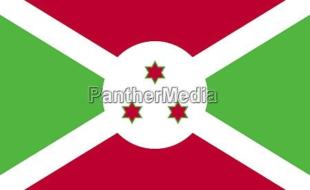 burundi national flag in exact proportions