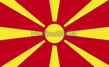 macedonia national flag in exact proportions