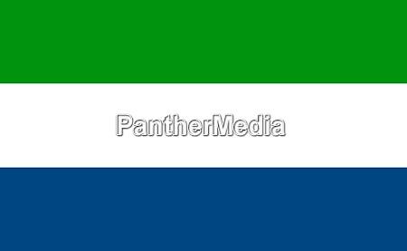 sierra leone national flag in exact