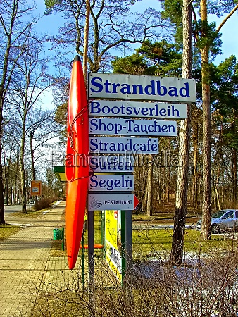 the signpost in the spa town