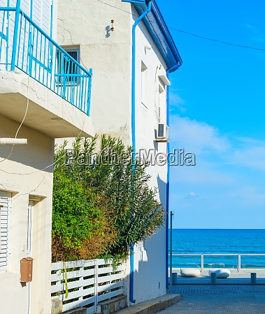 empty street sea larnaca cyprus