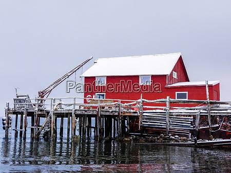 red house near tromso troms og