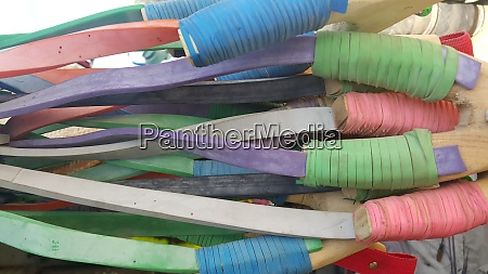 colorful handmade slingshot wooden catapult
