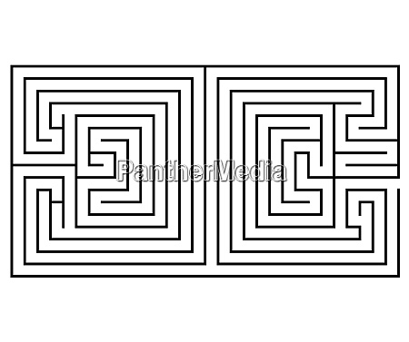 double maze in the shape of