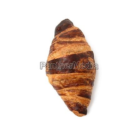 baked croissant isolated on white background