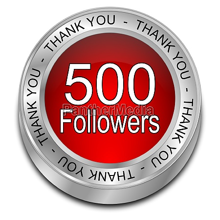 red 500 followers thank you