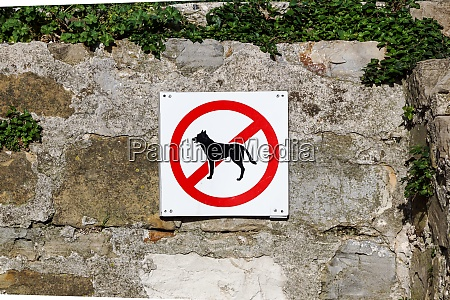 no dogs or pets allowed warning