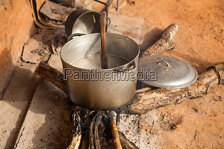 african outdoors kitchen firewood