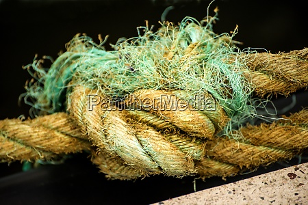 thick braided ship rope