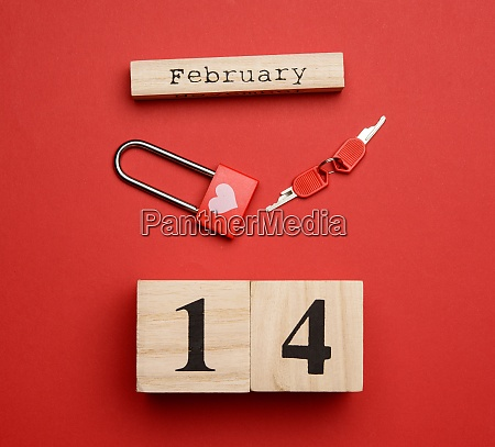 wooden calendar with the date of