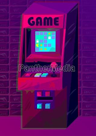 vector arcade machine in gradient style