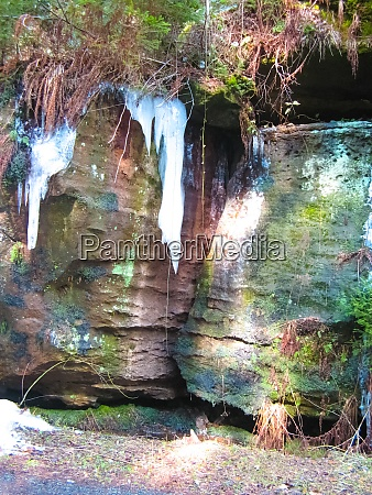 lichtenhainer waterfall saxon switzerland saxony germany