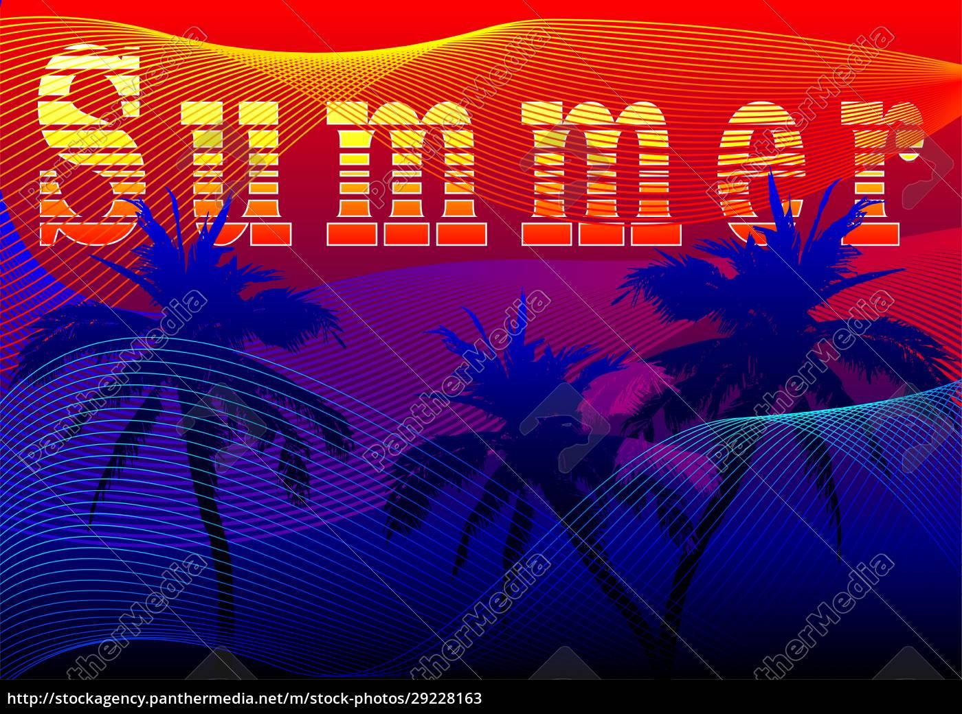 vector, summer, in, gradient, style - 29228163