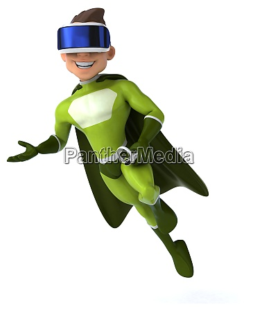 fun 3d illustration of a superhero