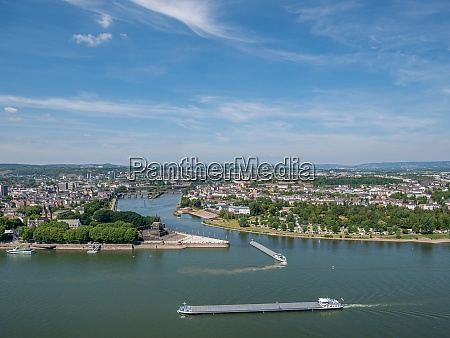 the german corner with the moselle
