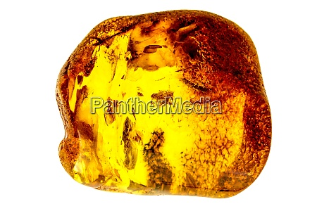 amber stone in a closeup