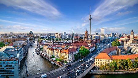 panoramic view at central berlin