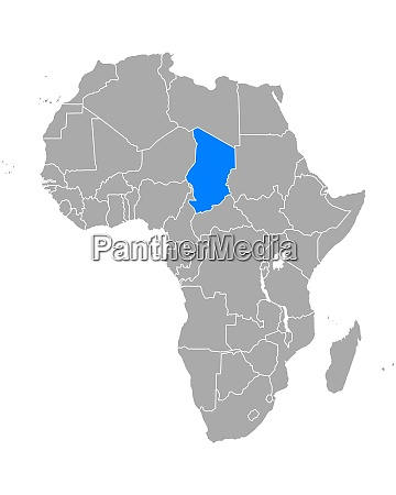 map of chad in africa