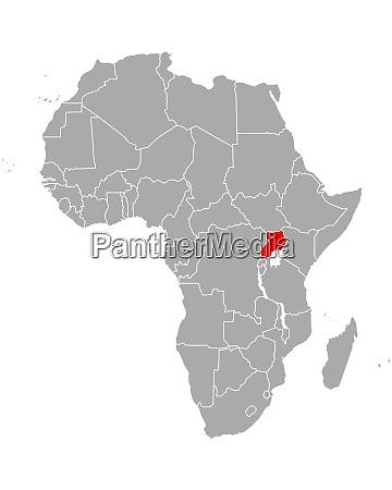 map of uganda in africa