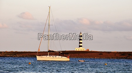 sailing yacht in front of the