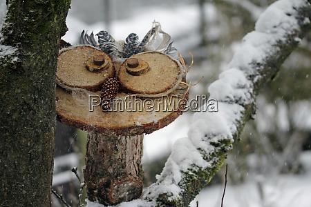 handicraft wood owls