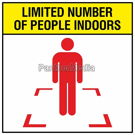 limited numbers of people indoors concept