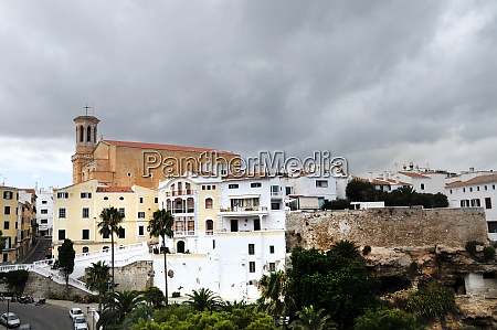 view of old mahon on menorca