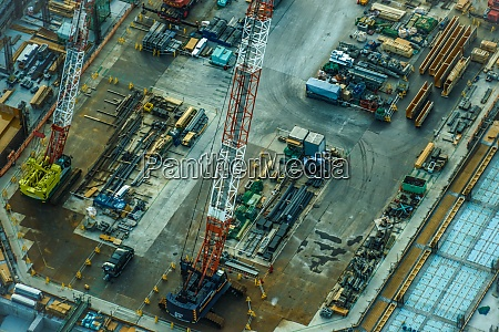 image of the construction site and
