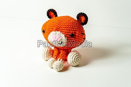selfmade amigurumi tiger out wool