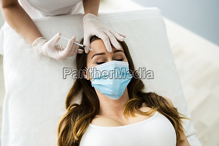 plastic surgery filler injection