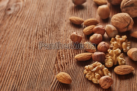 various types of nuts whole nuts